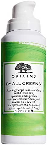 By All Greens Foaming Deep Cleansing Mask With Green Tea, Spirulina & Spinach, 2.6-oz.