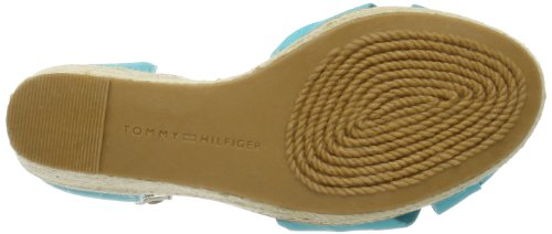 Tommy Hilfiger Women's Emery 54D Fashion Sandals Turquoise - Türkis (Miami Blue 484) UX8eY2