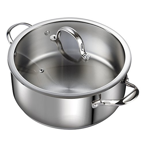 Cooks Standard 7-Quart Classic Stainless Steel Dutch Oven Casserole Stockpot with ()
