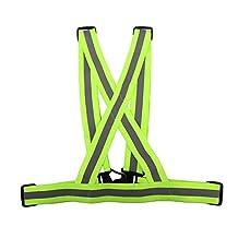 Reflective Vest Sunsbell Safety Gear Reflective Vest High Visibility Adjustable Motorcycle Jacket Running Gear Shirt