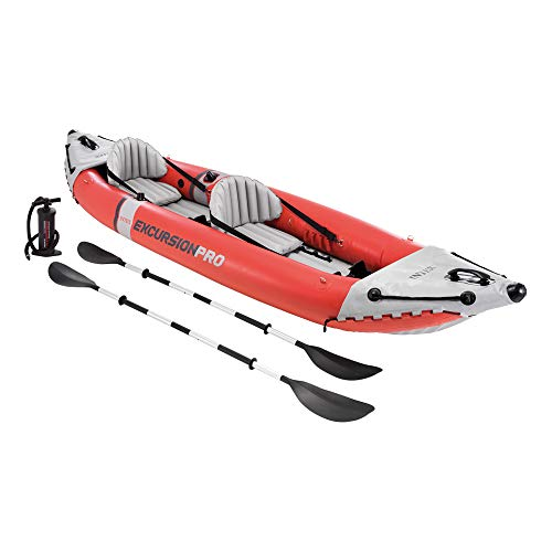 Intex Excursion Pro Kayak, Super Tough Laminate with Oars and Pump,...