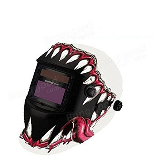 Electrical Welding Tools Helmet Mask & Goggles - Fangs Style Solar Welder Mask Auto Darkening Welding Helmet Mig Grinding by Unknown (Image #4)