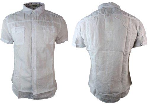 hombres Adw de de Azul Camisa verano Estilo Amarillo manga moda lino corta de de para Blanco Gris BHpqw