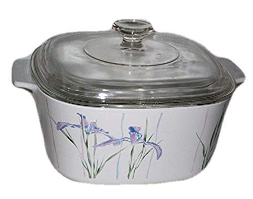 Corning Shadow Iris 3 Quart Square Covered Casserole, No Lid, Fine China Dinnerware ()