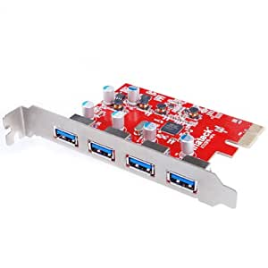 Inateck KT4004 4 Ports PCI-E to USB 3.0 Express Card for Mac Pro (Early 2008 to 2012 Late Version)