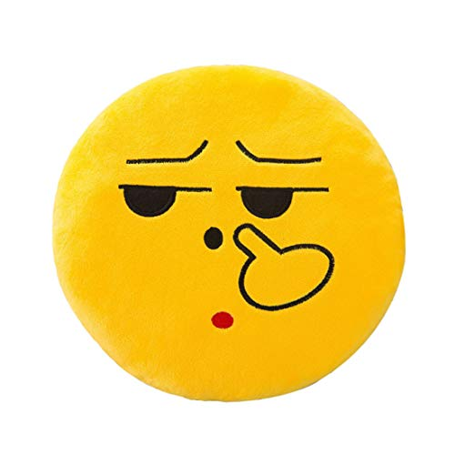 ♫ Toponly 32cm Emoji Smiley Emoticon Stuffed Plush Toy Doll Pillow Case Cover