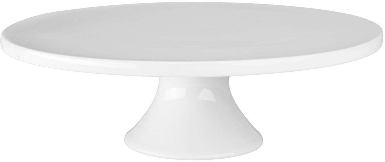 BIA Cordon Bleu 12-Inch by 3-3/4-Inch Porcelain Round Cake Stand, White (902033)