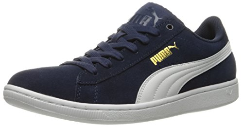 PUMA Women's Vikky Seafoam Fashion Sneaker - Peacoat/Puma White (Large Image)