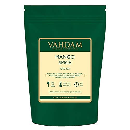 VAHDAM, Turmeric Pepper Spice Chai Tea (100 Cups) | India's Ancient Medicine Blend of Turmeric & Pepper | ABUNDANT IN ANTI-OXIDANTS & PHYTO-NUTRIENTS | Turmeric Tea | Packed in India | 7oz