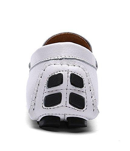 TDA ,  Herren Durchgängies Plateau Sandalen mit Keilabsatz , weiß - weiß - Größe: 43