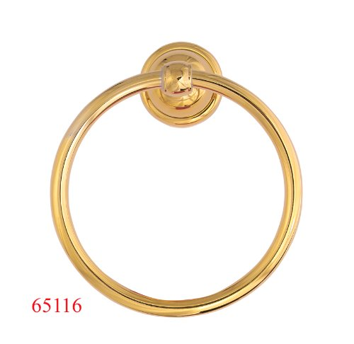 New Tradition Towel Ring, Polish Brass PVD Finish - By Plumb USA ()