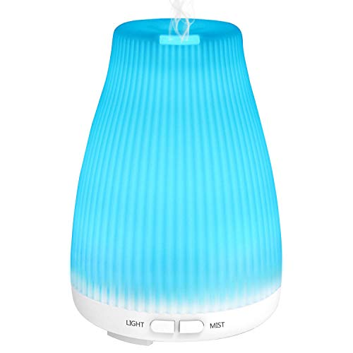 Essential Oil Diffuser,BAXIA TECHNOLOGY Upgraded 2nd Version Aromatherapy Diffuser with 8 LED Color Changing,Oil Diffuser With Waterless Auto Shut-off for Home Bedroom Office Yoga Sparoom