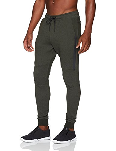 Peak Velocity Men's Metro Fleece 'Build Your Own' Jogger Sweatpants (S-3XL, Loose, Athletic, Fitted), forest green heather, Large
