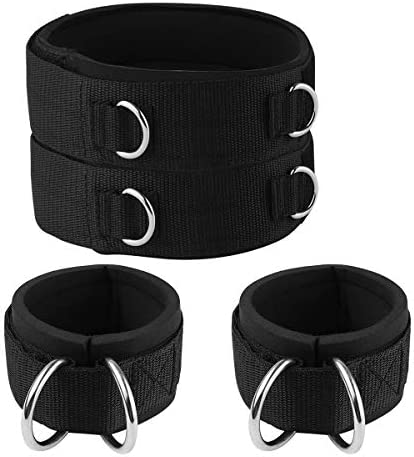 1Pair High Quality Ankle Straps Cable Machines Workouts Leg Hip Paded Neoprene