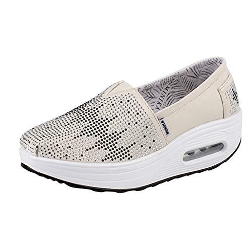Dainzuy Women's Fashion Sneakers Summer Non-Slip Shoes Platform Loafers Sneaker Walking Running Shoe