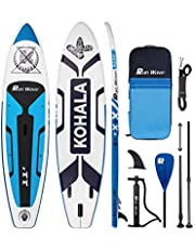 Runwave Inflatable Stand Up Paddle Board 11'×33''×6''(6'' Thick) Non-Slip Deck with Premium SUP Accessories   Wide Stance, Bottom Fins for Surfing Control   Youth Adults Beginner