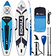 Runwave Inflatable Stand Up Paddle Board 11'×33''×6''(6'' Thick) Non-Slip Deck wit