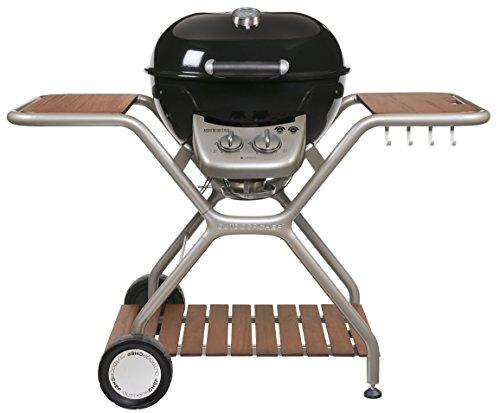 """Outdoorchef Gasgrill """"Montreux 570G Wood"""" – Kugelgrill für saftige Steaks ohne Wenden – Gas grill für Balkon Terrasse…"""