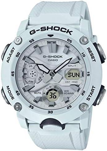 Casio GA2000S-7A Men s Carbon Core Guard Analog Digital Alarm Chronograph White G Shock Watch