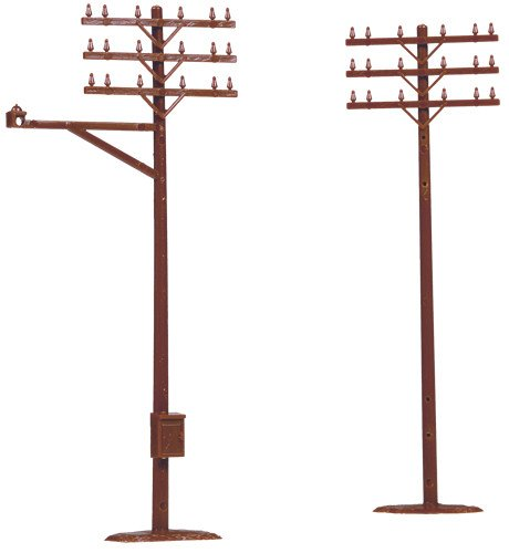 Telephone Poles - ATLAS MODEL 775 Telephone Poles HO (12)