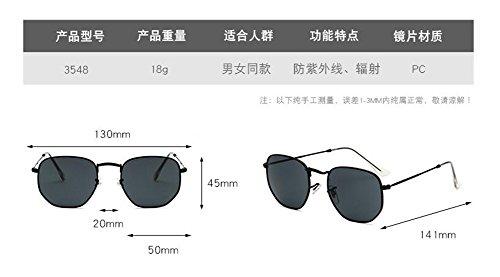 retro polarisées Bleu lunettes Lennon Vert en rond inspirées métallique style et cercle vintage soleil de du SwwOrYEq