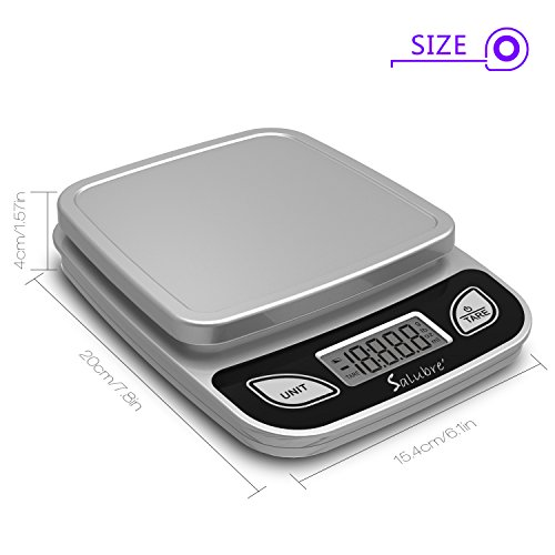 Digital Food Scale / Kitchen Scale / Postal Scale – Weigh in Pounds, Ounces, Grams - Precise Weight Scale 1g (0.04oz) to 11 lbs - Batteries Included by REM Concepts (Image #2)