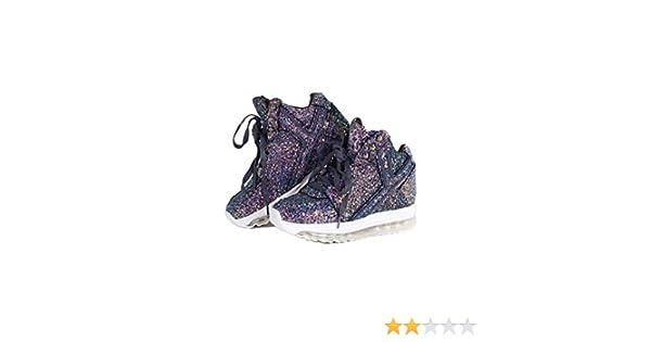 YRU Qozmo Hi 2 Purple Mega Platform Wedge Sneaker 9 Size