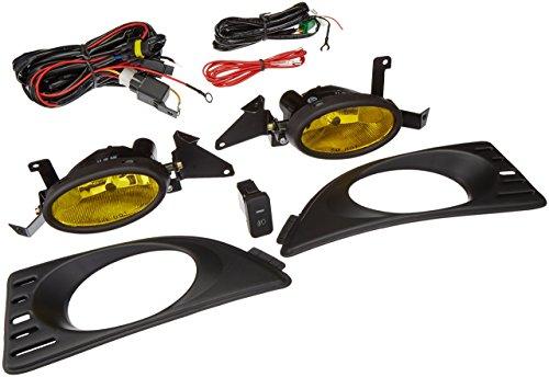 Winjet WJ30-0060-12 Yellow Lens Fog Light Kit (Acura RSX Wiring Kit and Bezel ()