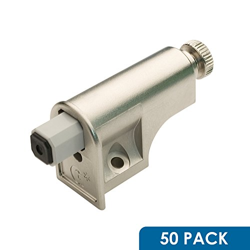 50 Pack Soft Close Damper for Cabinet Doors/Compact/Soft Close Adapter/Hardware/Nickel/Hinge by Rok