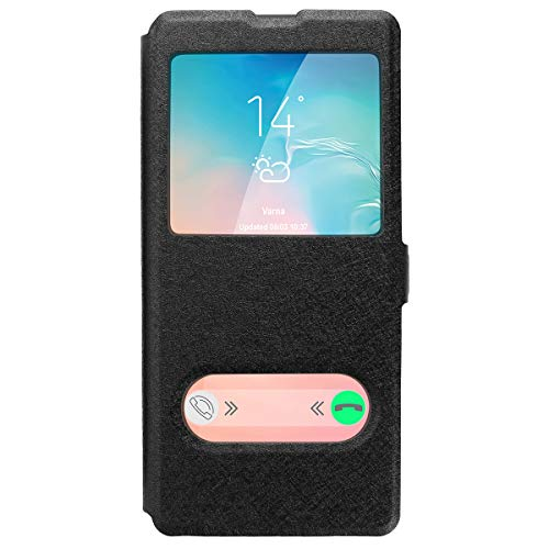 Galaxy S10e Case, AICase [ Window View ] PU Leather Magnetic Closure Flip View Case Folio Stand Cover for Samsung Galaxy S10e