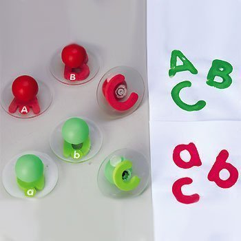 (Knobbed Alphabet Stampers - Uppercase & Lowercase)