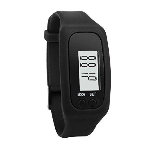 Start Digital LCD Light Portable Waterproof Pedometer Multifunction for Run Step Walking Distance Calorie Counter (2018 Black)