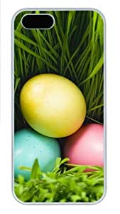 Three Eggs And Grass Polycarbonate Plastic iPhone 5S and iPhone 5 Case Cover White