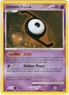 - Pokemon Unown [Z] - Diamond & Pearl Secret Wonders - 72 [Toy]