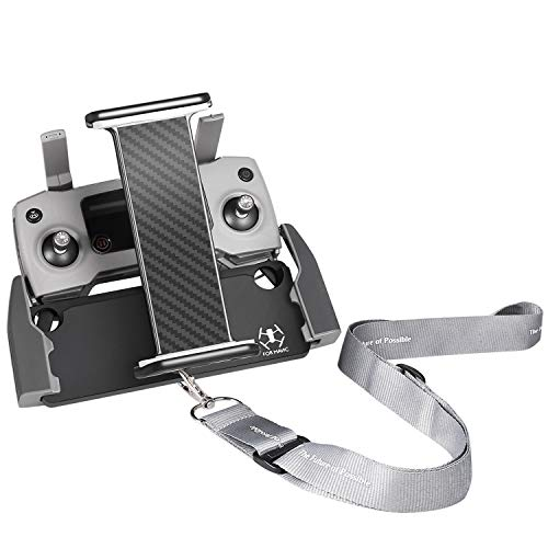 (DJI Mavic Air Pro Platinum Spark Tablet Holder - UZOPI Aluminum-Alloy Adjustable Remote Controller Accessories Bracket Mount Extender with Neck Lanyard Strap for 4-12 Inch Phone Tablets)