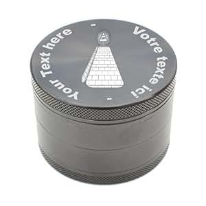 Grinder personnalisable en metal - ILLUMINATI - couleur : NOIR