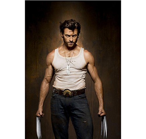 X-Men Origins: Wolverine (2009) 8 Inch x10 Inch Photo Hugh Jackman Claws Out Arms at Sides kn