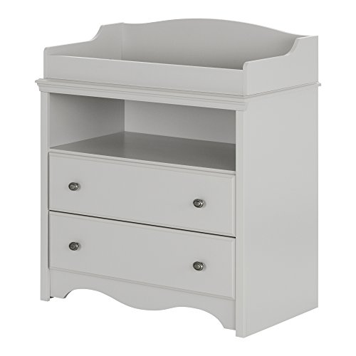 (South Shore Angel Changing Table with Drawers, Soft Gray)