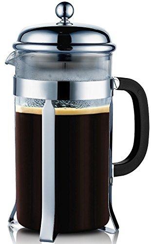 Bruntmor, PLATINUM PRO Special Edition 18/10 Steel 34oz French Coffee Press Non Drip Spout, Non Rust