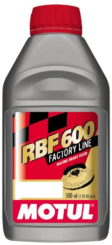 - Motul 8068HL-12PK RBF 600 Factory Line Dot-4 100 Percent Synthetic Racing Brake Fluid - 500 ml, (Case Pack of 12)