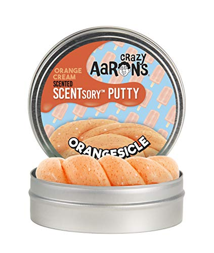 Crazy Aarons Thinking Putty 2.75 Tin - Orange Cream Scented Putty - SCENTSory Orangesicle - Soft Texture, Never Dries Out