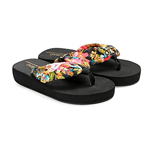 b7e336f68fe06 Women Bohemia Summer Beach Sandals Wedge Platform Thongs Slippers Flip Flops  cheap
