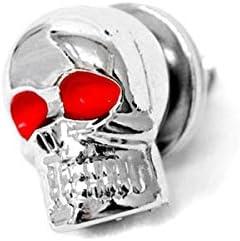 Krator Custom Chrome Skeleton Skull Bolt Nuts Screws 6mm Compatible with Kawasaki VN Vulcan Classic Drifter 800
