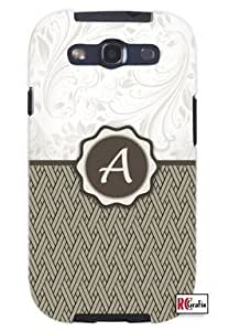 Cool Painting Monogram Initial Letter A Unique Quality Soft Rubber Case for Samsung Galaxy S4 I9500 - White Case