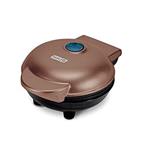 Dash DMW001CU Mini Maker Iron for for Individual Waffles, Paninis, Hash browns, other on the go Breakfast, Lunch, or Snacks, Copper 41EFIvdqzwL