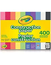 Crayola 400 Pages Construction Paper Pad, School and Craft Supplies, Teacher and Classroom Supplies, Gift for Boys and Girls, Kids, Ages 3,4, 5, 6 and Up, Arts and Crafts, Gifting
