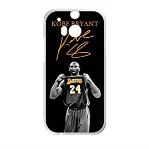 Happy Kobe Bryant Design Plastic Case Cover For HTC M8