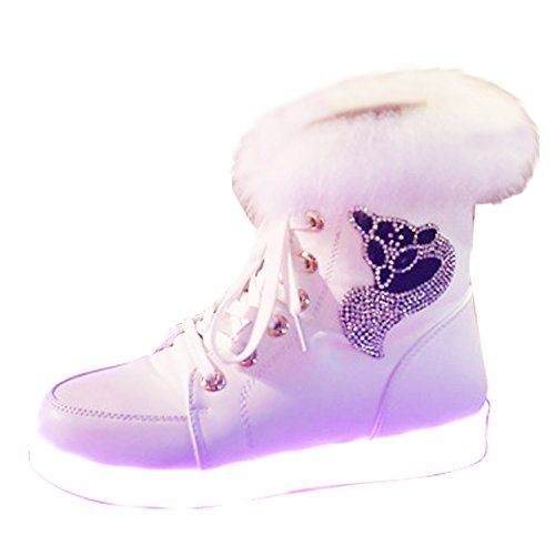 Athletic Sneaker Women White3 Lovers High New Shoes LED Gaorui Top Luminous Light USB Charge qgXBxz4nwa