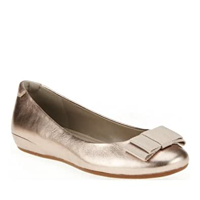 ECCO Women's Owando Bow Flat,Light Gold,41 EU/10-10.5 M US