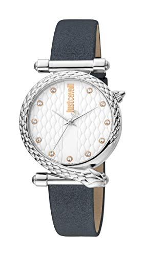 Just Cavalli JC1L075L0015 316L Stainless Steel Mineral Crystal Tang Buckle Watch